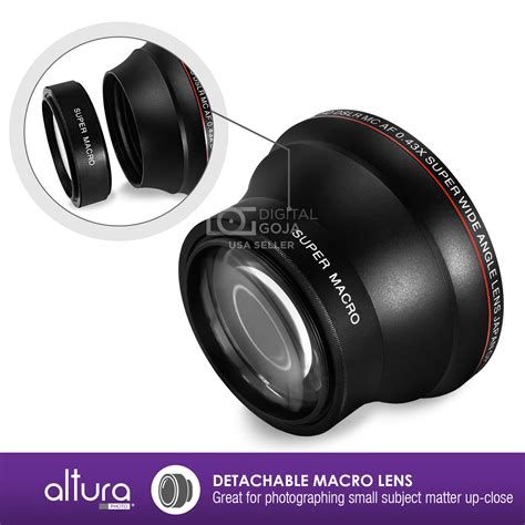 Best Lens For Nikon D7100 52mm Altura Photo 0 43x Wide Angle Macro Lens For Nikon