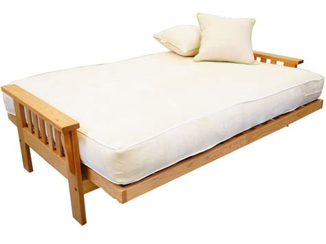 futon beds with mattress included cornerstone wood amish flat arm mission futon frame oak