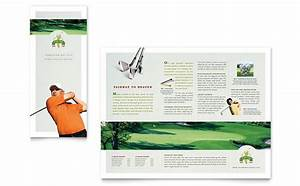 golf course instruction tri fold brochure template design With instruction leaflet template
