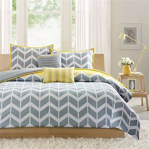 Yellow, And, Gray, Bedding, That, Will, Make, Your, Bedroom, Pop