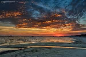 Biloxi Mississippi Gulf Coast Beach Sunset