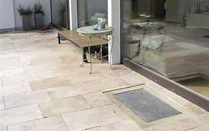 Travertin platten fur terrasse und garten for Platten für terrasse