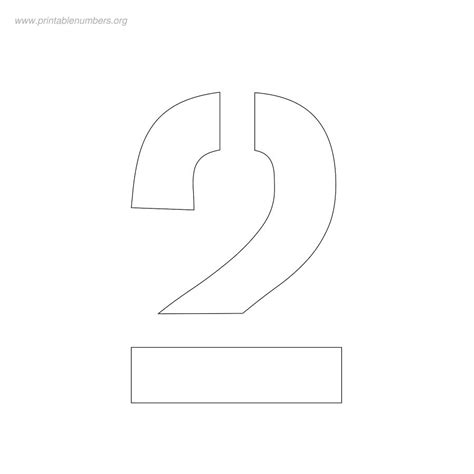 7 Best Images Of Two Printable Number Template