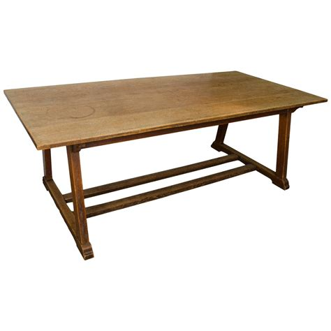 rectangular oak dining table oak arts and crafts rectangular dining table at 1stdibs