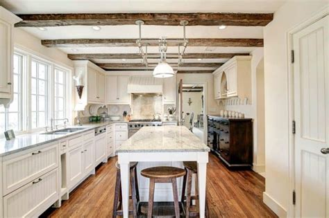 attractive kitchens  light wood floors art   home