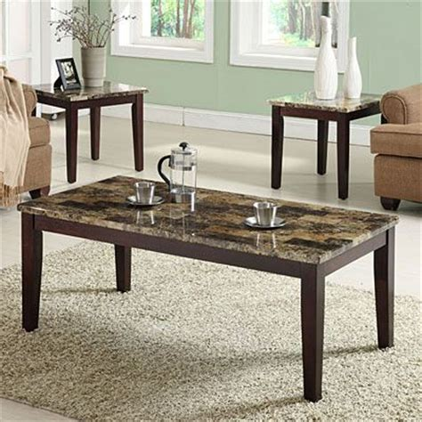big lots coffee table 3 piece faux marble occasional table set at big lots