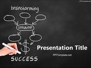 math powerpoint templates free download - free brainstorming success chalk hand black ppt template