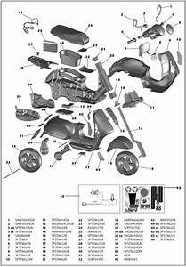 Vespa Scooter Iged1050 Parts