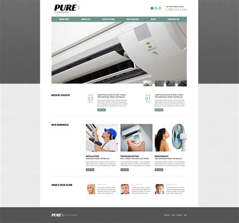 air joomlsa template air conditioning responsive joomla template 47440