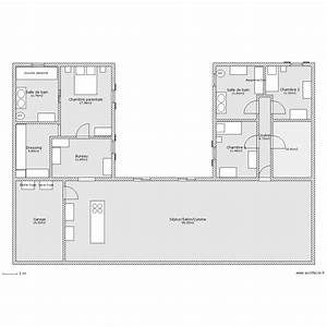 Plan Maison U : maison en u plan 11 pi ces 220 m2 dessin par ludivine170411 ~ Dallasstarsshop.com Idées de Décoration