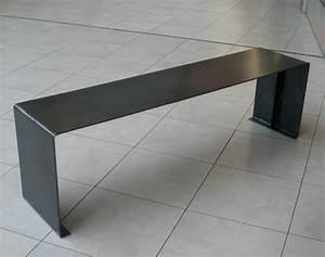 Banc Design Interieur : banc design sur mesures en acier ~ Teatrodelosmanantiales.com Idées de Décoration