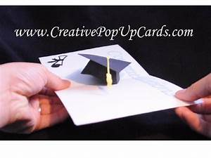 graduation pop up card 3d cap youtube With graduation pop up card template