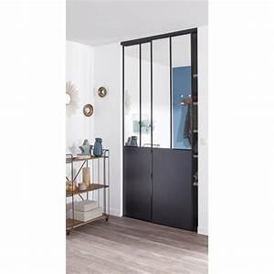 porte de placard standard coulissante et pliante leroy With porte coulissante placard miroir
