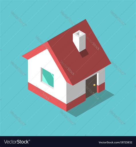 isometric house flat design royalty  vector image