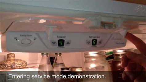 put  jazz control board  service mode  maytag jenn air amana refrigerators