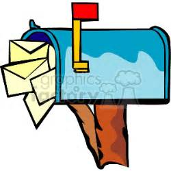 11478 mail letter clipart royalty free mailbox stuffed with mail 153541 vector clip