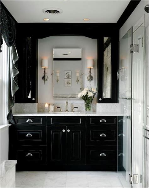 black grey and white bathroom ideas decorating with black centsational