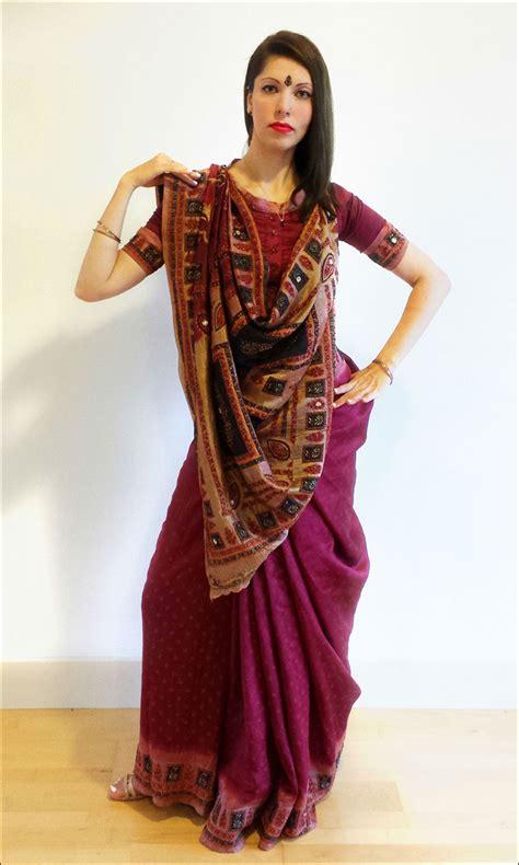 wear  gujarati saree   easy steps