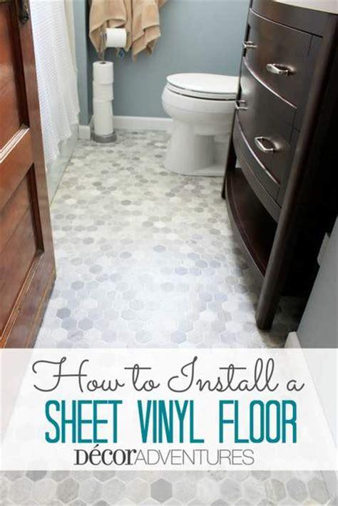 bathroom flooring ideas vinyl how to install a sheet vinyl floor hometalk
