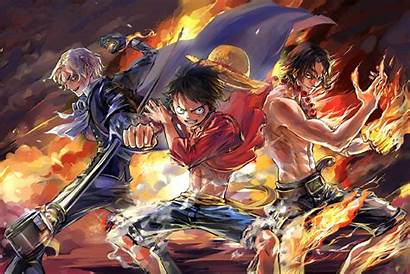 Ace Piece Luffy Sabo Team Anime Wallpapers