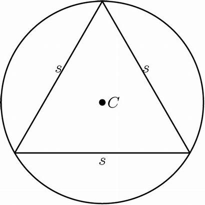 Circumradius Equilateral Three Sides Draw Triangles Circumcenter
