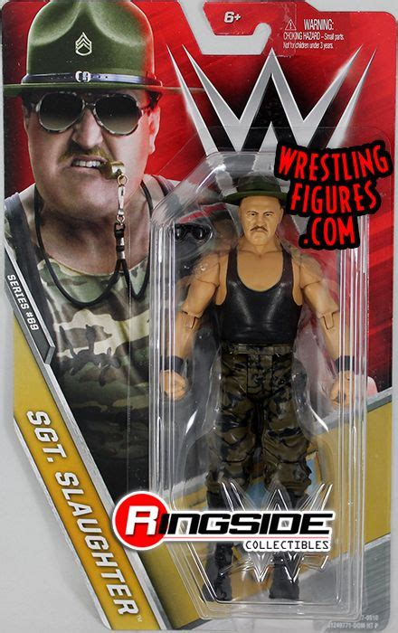 sgt slaughter wwe series  wwe toy wrestling action