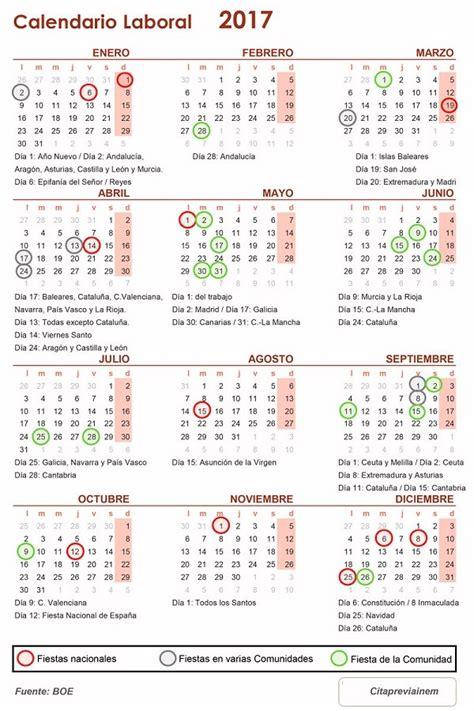 como descargar  imprimir el calendario laboral de