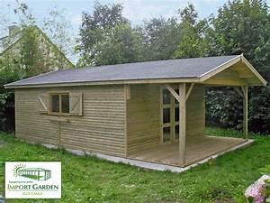 Abri De Jardin Avec Terrasse : abri de jardin en bois classique import garden havr ~ Dailycaller-alerts.com Idées de Décoration
