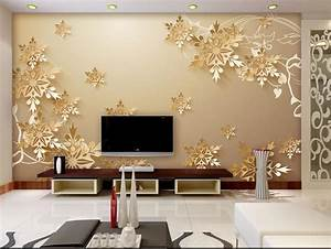 Aliexpress.com : Buy Golden snowflakes 3D room wallpaper ...