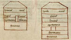 Detail Of Two Diagrams Of Noah U0026 39 S Ark  Labelled With The