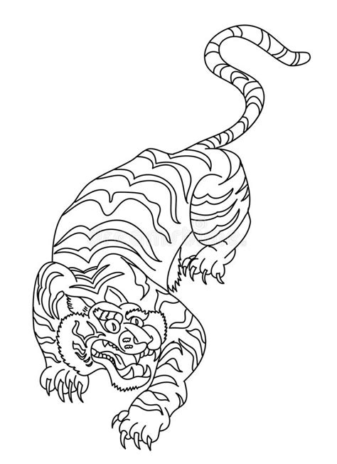 Japanese Tiger Tattoo Design Vector Stock Vector - Illustration of backgrounddrawing, drawing