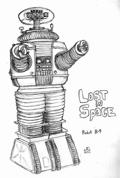 Lost Space Robot B9 Sketch Drawings Deviantart