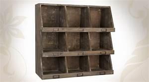 Etagere Murale En Bois : etag re murale en bois 9 casiers ~ Dailycaller-alerts.com Idées de Décoration