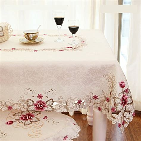 FADFAY Home Textile,Elegant Embroidery Table Cloth,Modern