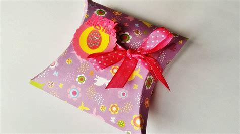 pillow box basteln basteln oster pillow box geschenkbox basteln tolle geschenkidee f 252 r ostern