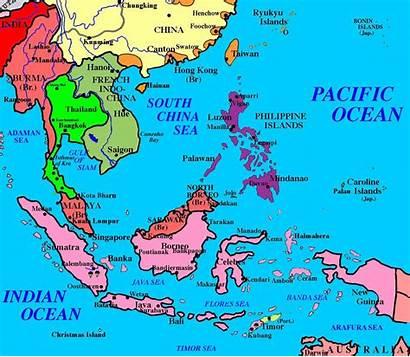 Asia Southeast East Map Islands Asian Political