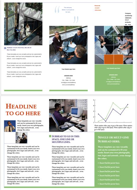 Word Template For Brochure by Phlet Templates 6 Beautiful Designs For Any Business