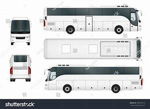 vector bus template isolated on white stock vector With tour bus design template