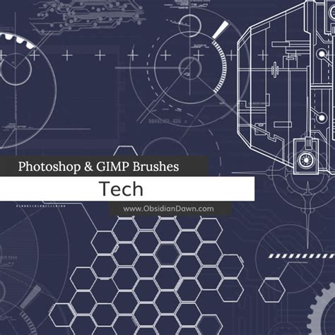 tech photoshop gimp brushes obsidian dawn