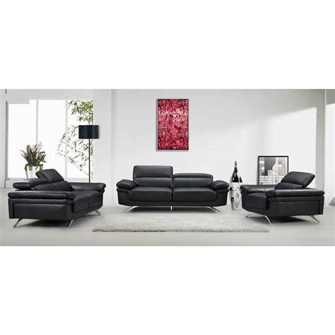 Sofa And Chair Set by Black Fabric Faux Leather Wood Sofa Loveseat And