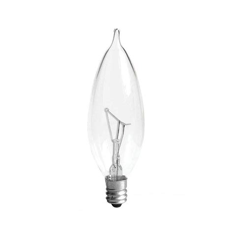 ge 15 watt incandescent b8 decorative light bulb 4 pack