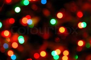 Color photo of blurred Christmas lights at night | Stock ...