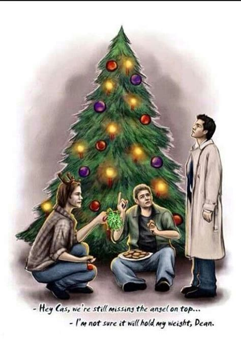 castiel christmas tree topper the on top of the tree supernatural trees the tree and the