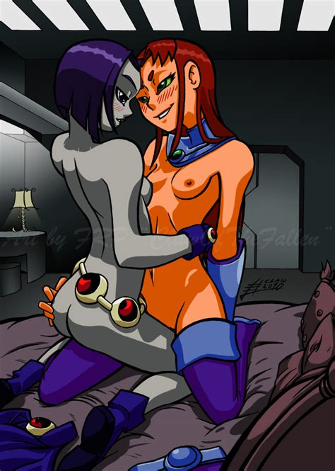 private time with raven and starfire by clawofthefallen hentai foundry
