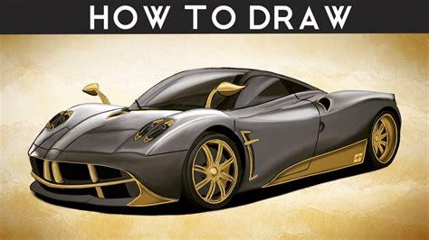How To Draw A Pagani Huayra