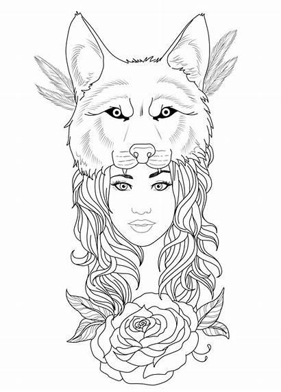 Wolf Drawings Headdress Tattoos Sketches Tattoo Tribal