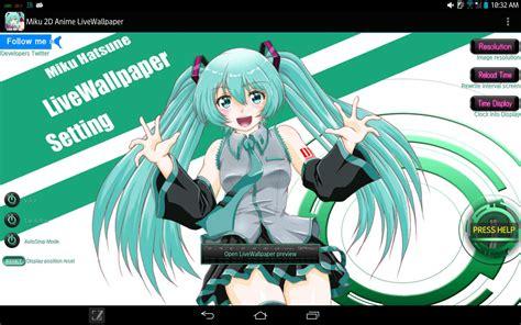 2d Live Anime Wallpaper Android - miku 2d anime livewallpaper apk free