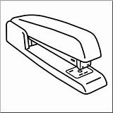 Stapler Cliparts Clipart Clip Coloring Template Webcomicms sketch template