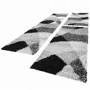 Teppich Bettumrandung 3 Teilig : bettumrandung l ufer hochflor shaggy teppich weich grau meliert l uferset 3 tlg teppiche ~ Bigdaddyawards.com Haus und Dekorationen
