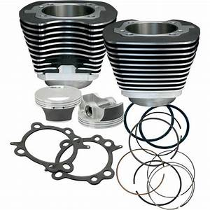 S U0026s Cycle 106 U0026quot  Big Bore Engine Pistons Cylinders Kit Harley Softail Dyna Touring